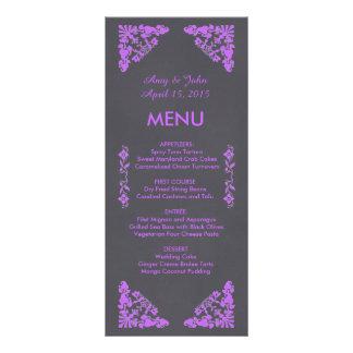 Art deco rústico do quadro que wedding o menu