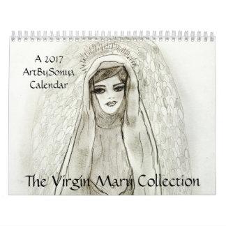 ArtBySonya a coleção 2017 da Virgem Maria Calendário