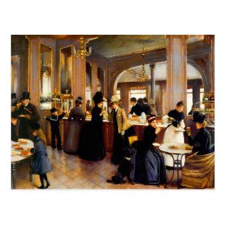 Arte 1889 do vintage da loja da pastelaria cartão postal
