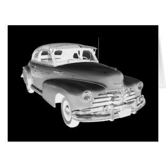 Arte 1948 do carro antigo de Chevrolet Fleetmaster Cartão Comemorativo Grande