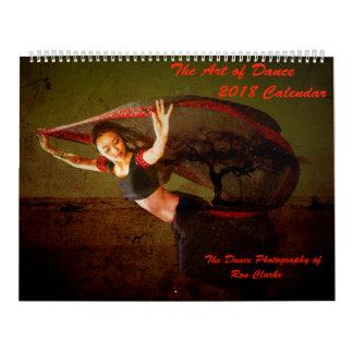 Arte 2018 do calendário da dança