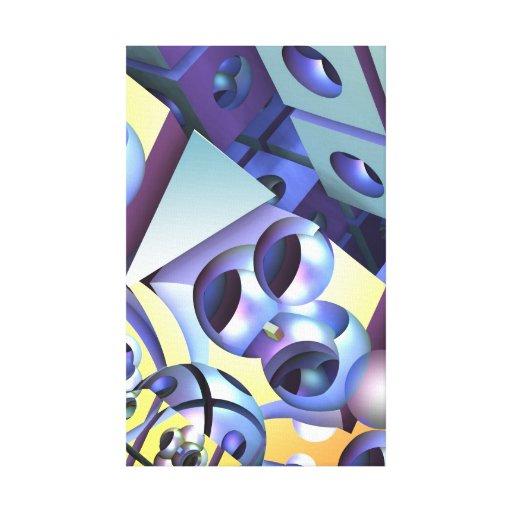 Arte 3-D abstrata moderna Impressão Em Canvas