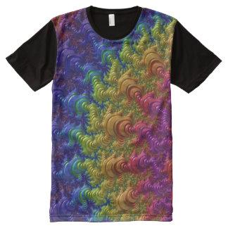 Arte 50 do Fractal Camisetas Com Impressão Frontal Completa