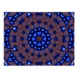 Arte 670 do caleidoscópio do Fractal Cartão Postal