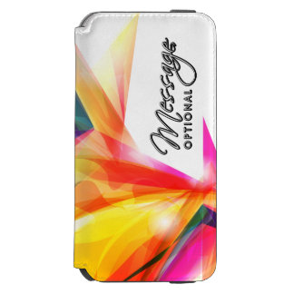Arte abstracta 7 capa carteira incipio watson™ para iPhone 6