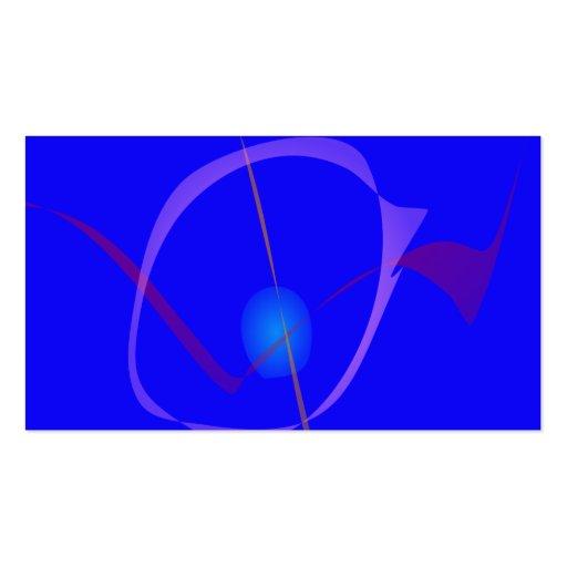 Arte abstracta azul do Cygnus Cartoes De Visita