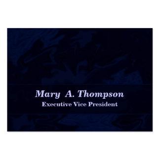 Arte abstracta azul escuro cartão de visita grande