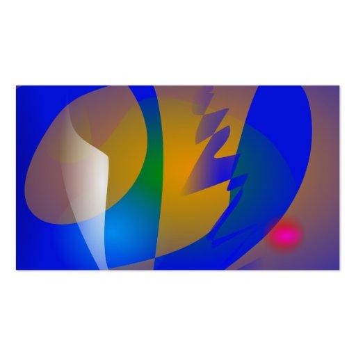 Arte abstracta azul impressionante modelos cartoes de visita