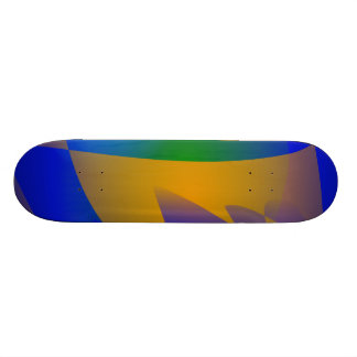 Arte abstracta azul impressionante skateboard