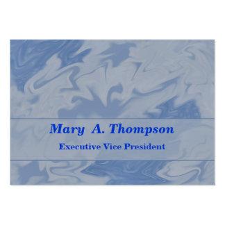Arte abstracta azul Pastel Modelo Cartao De Visita