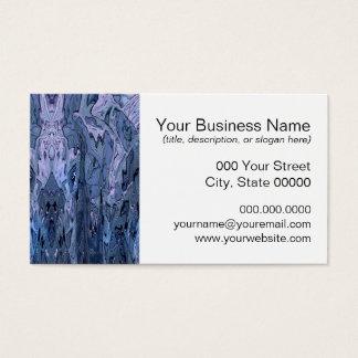 Arte abstracta azul roxa da pervinca cartão de visitas