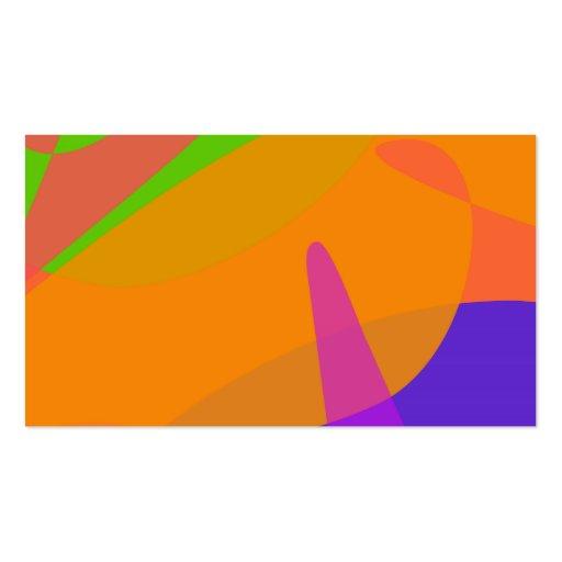 Arte abstracta baseada alaranjada cartão de visita