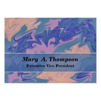 Arte abstracta branca cor-de-rosa azul cartão de visita grande