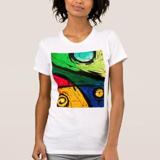 Arte abstracta brilhante Funky das cores Tshirts