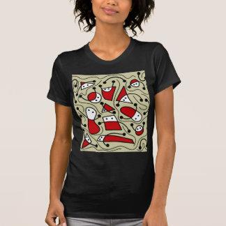 Arte abstracta brincalhão camiseta