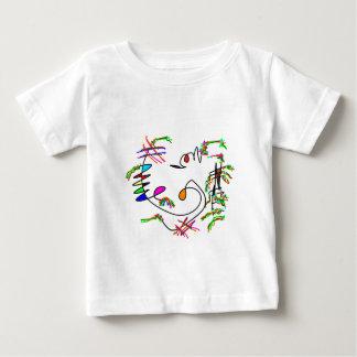 arte abstracta camiseta para bebê