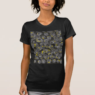 Arte abstracta cinzenta e amarela camiseta