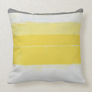 """Arte abstracta cinzenta e amarela """"cítrica"""" almofada"""