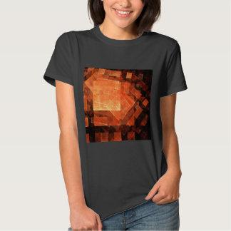 Arte abstracta clara da janela tshirts