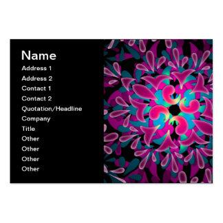 Arte abstracta colorida do caleidoscópio cartão de visita grande