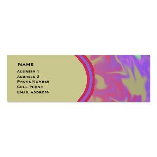 Arte abstracta colorida do divertimento cartão de visita skinny