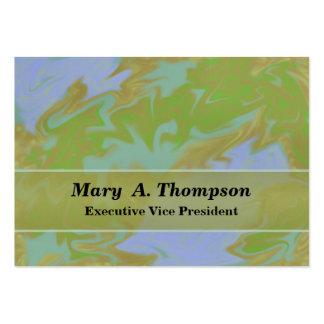 Arte abstracta colorida do verde azul cartão de visita grande