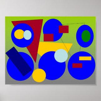 Arte abstracta - conclusão do primavera pôster