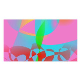 Arte abstracta cor-de-rosa atrativa cartão de visita