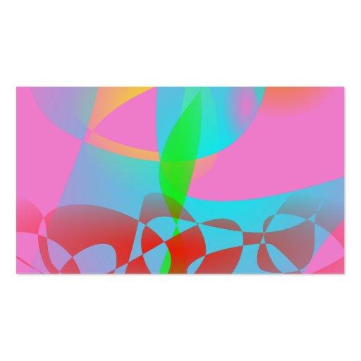 Arte abstracta cor-de-rosa atrativa cartao de visita