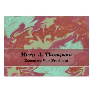 Arte abstracta cor-de-rosa de turquesa cartão de visita grande