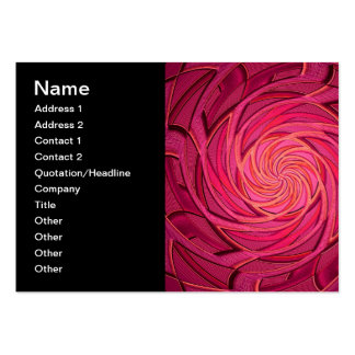 Arte abstracta cor-de-rosa de Twirly Cartão De Visita Grande