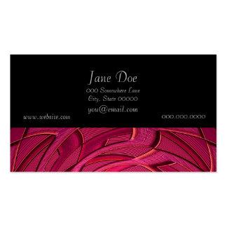 Arte abstracta cor-de-rosa de Twirly Cartão De Visita