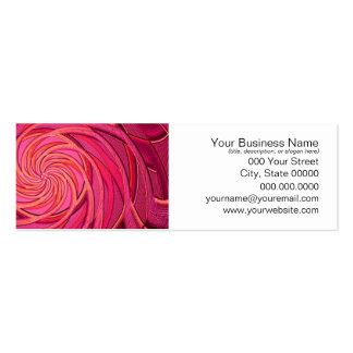 Arte abstracta cor-de-rosa de Twirly Cartão De Visita Skinny