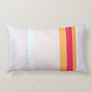 """Arte abstracta cor-de-rosa e alaranjada """"soprada"""" almofada lombar"""