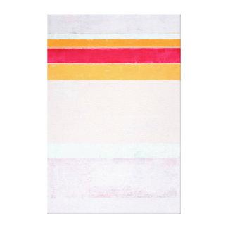 """Arte abstracta cor-de-rosa e alaranjada """"soprada"""" impressão em tela"""