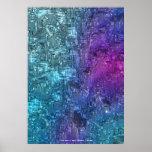 Arte abstracta crepuscular das matiz pelo índigo L Impressão