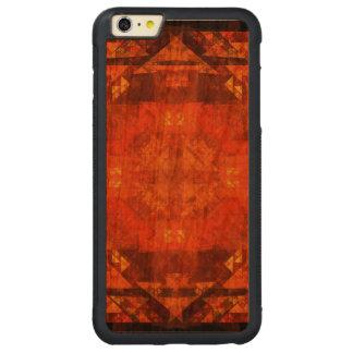 Arte abstracta da bênção capa bumper para iPhone 6 plus de cerejeira, carve