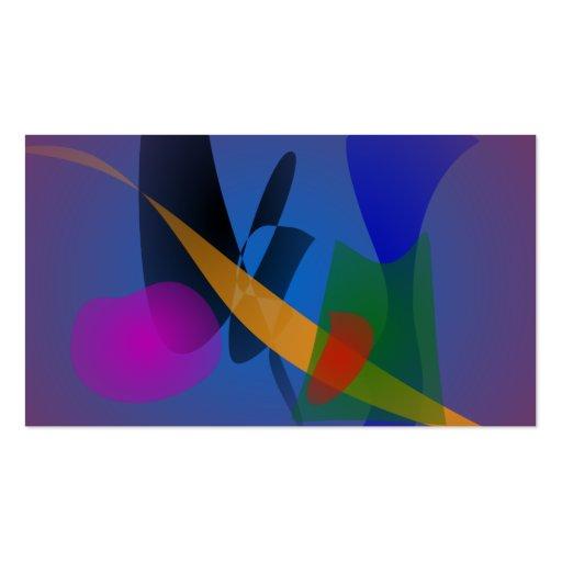 Arte abstracta da emoção cartoes de visita