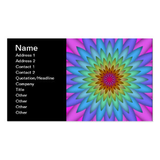 Arte abstracta da flor do arco-íris cartão de visita