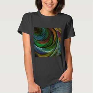 Arte abstracta da glória da cor camisetas