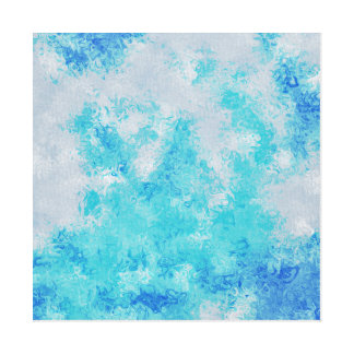 arte abstracta da mancha do bkue impressão em tela