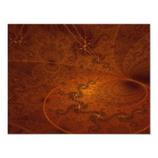 Arte abstracta da saudação de Suryasta Sun Convite 10.79 X 13.97cm