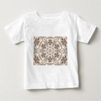 arte abstracta de creme e bege do lait de au de camiseta para bebê