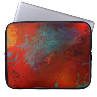 Arte abstracta de Digitas do Grunge do vermelho, Capa Para Notebook