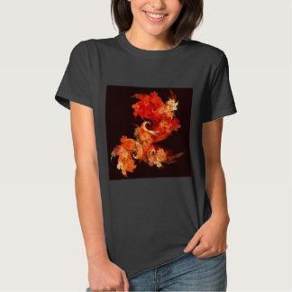 Arte abstracta de Firebirds da dança T-shirts