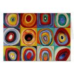 Arte abstracta de Kandinsky Cartão