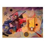 Arte abstracta de Kandinsky Cartões Postais