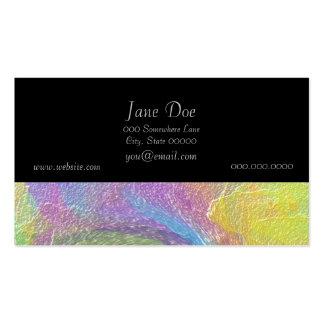 Arte abstracta do ciclone do arco-íris cartão de visita