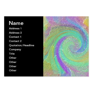 Arte abstracta do ciclone do arco-íris cartão de visita grande