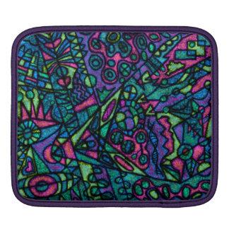 Arte abstracta do cobrir da luva da caixa da bolsa para iPad